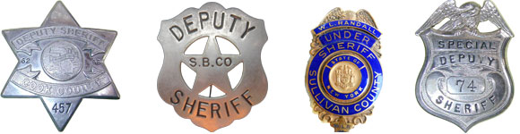 Antique Sheriff's Badges
